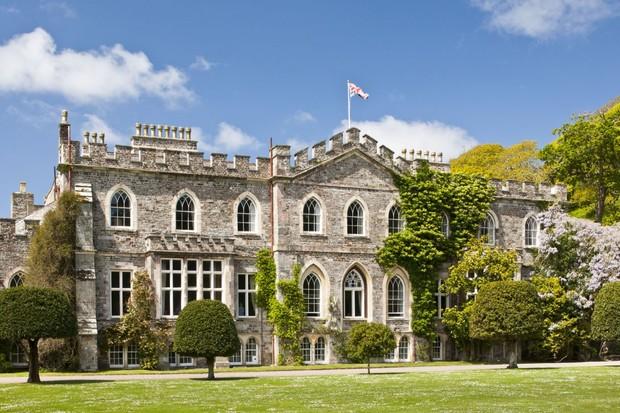 The exterior of Hartland Abbey, Devon