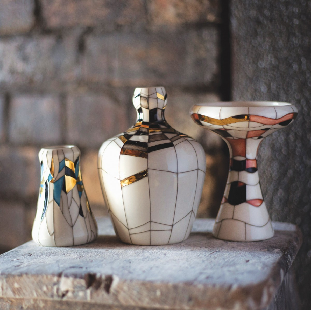 Three pottery pieces from Design Consort