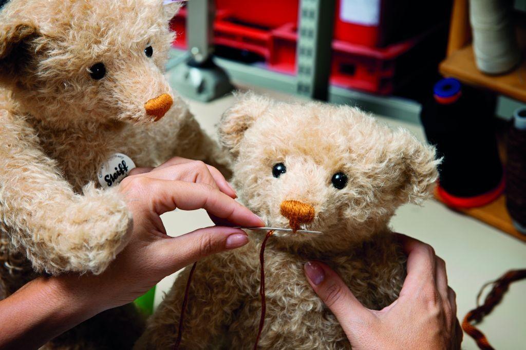 Steiff teddy bears being handstitched