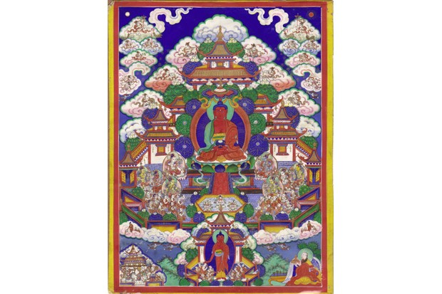 A Buddhist thangka from Edd's own collection