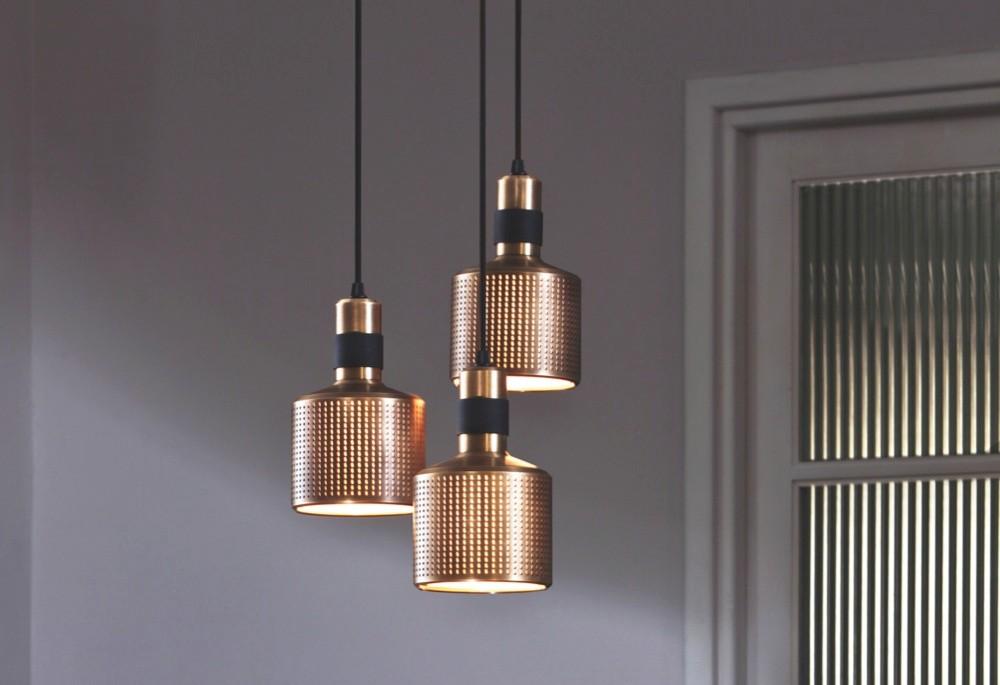 'Riddle' pendant lights, £242 each, Bert Frank