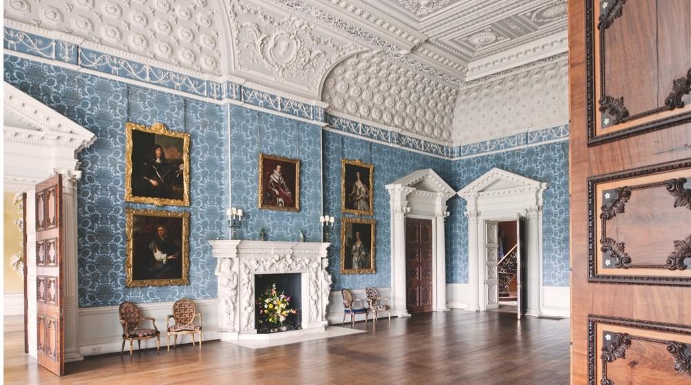 Grand interiors at Claydon House, Buckinghamshire