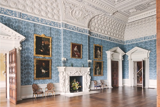 Grand interiors at Claydon House, Buckinghamshire