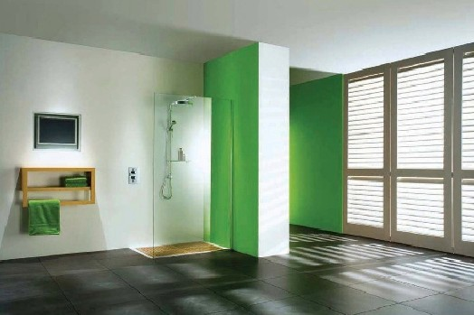 A Matki's wet room straight panel