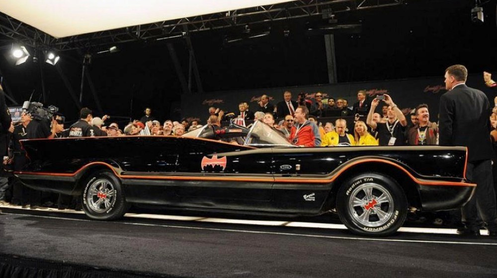 The first of six Batmobiles produced for the 1960s ABC Batman TV series