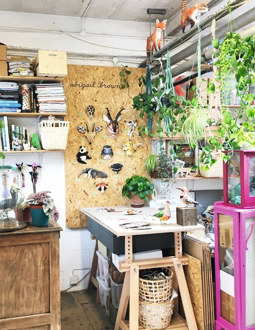 Abigail Brown's studio