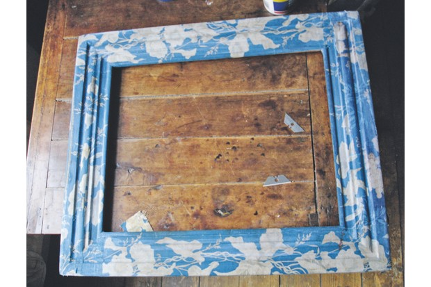 An image of the fabric fitted to the frame