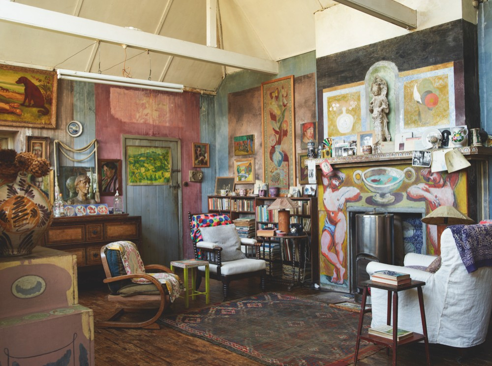 A room at Charleston, Sussex, formerly home to artists Vanessa Bell and Duncan Grant