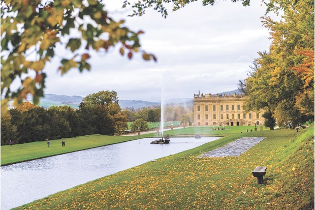 The grounds and exterior of Chatsworth House