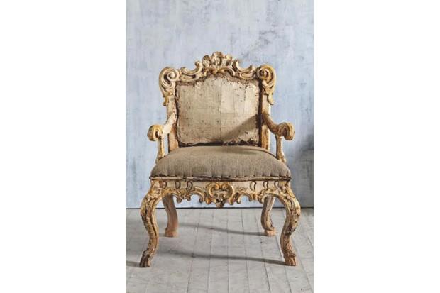 An antique armchair