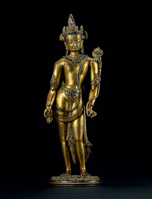 A 14th century bronze figure of Padmapani, sold at Christie's in 2012