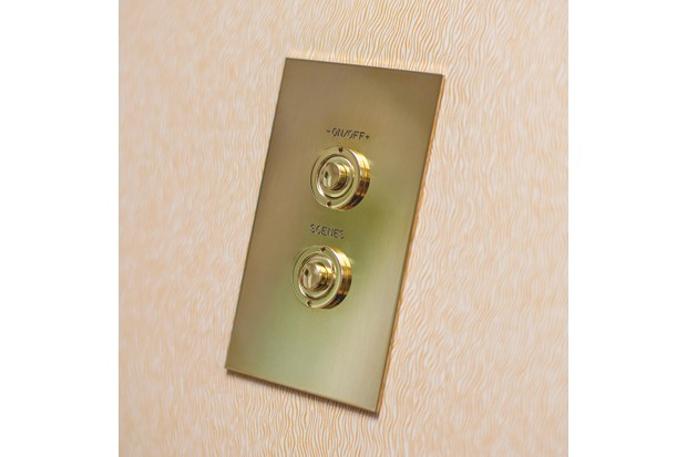 Brass push-button control, from £107.57, Forbes & Lomax