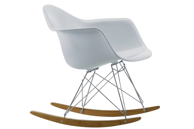 A rocking chair designed by Ray Eames