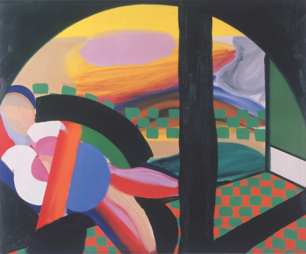 Mrs Acton in Delhi, 1967 - 1971 Oil on canvas 48 x 58 1/4 inches  122 x 148 cm