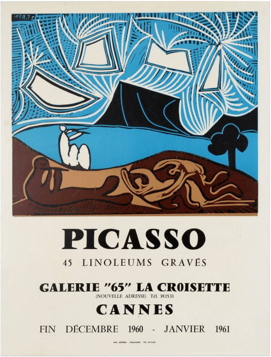 A 1960 Picasso exhibition poster