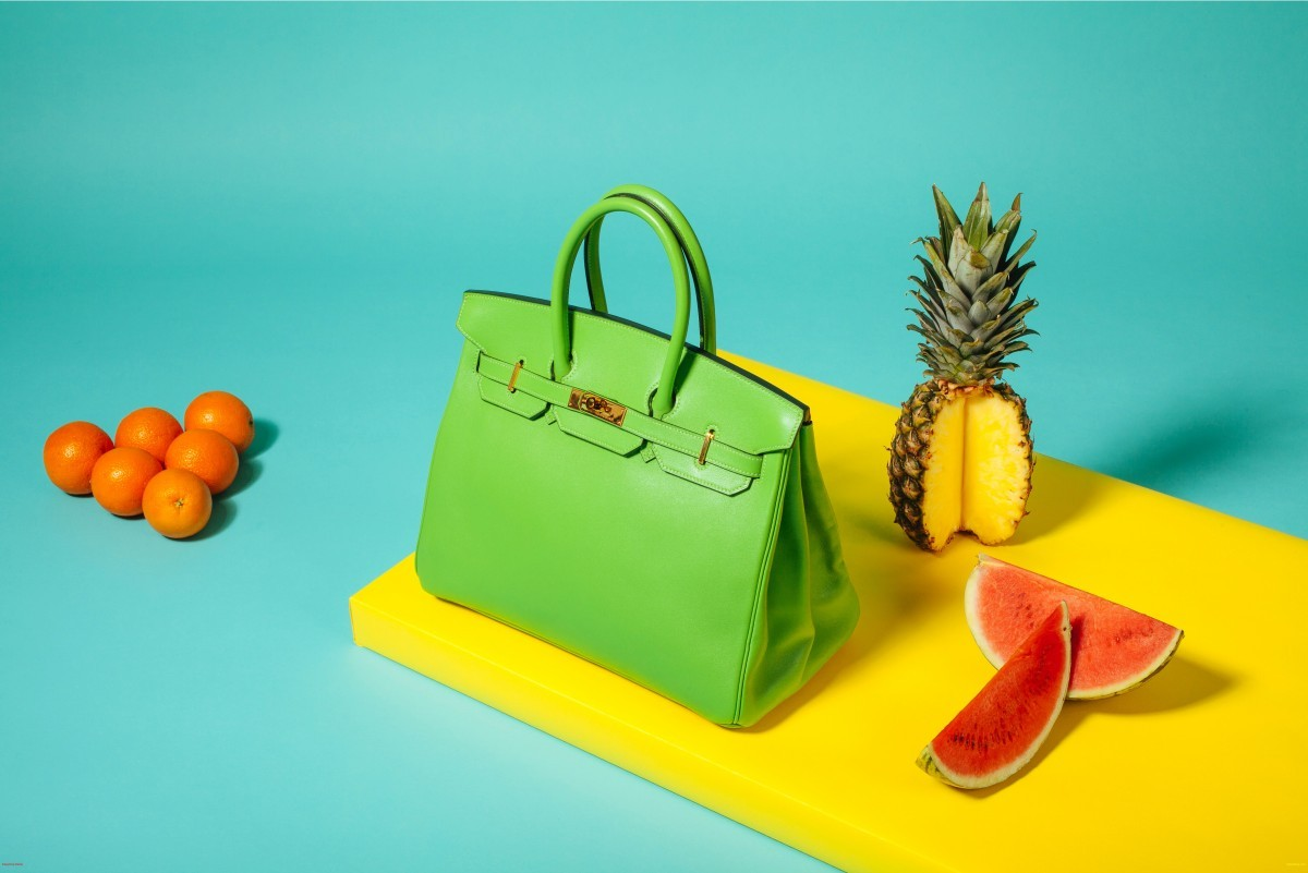 Apple green 'Swift Birkin 35' handbag, £7,600