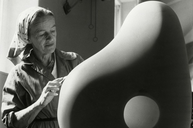 A picture of Barbara Hepworth at Trewyn studio
