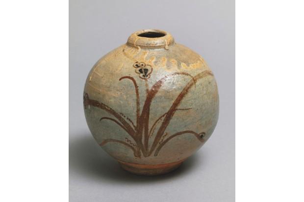 A spherical vase