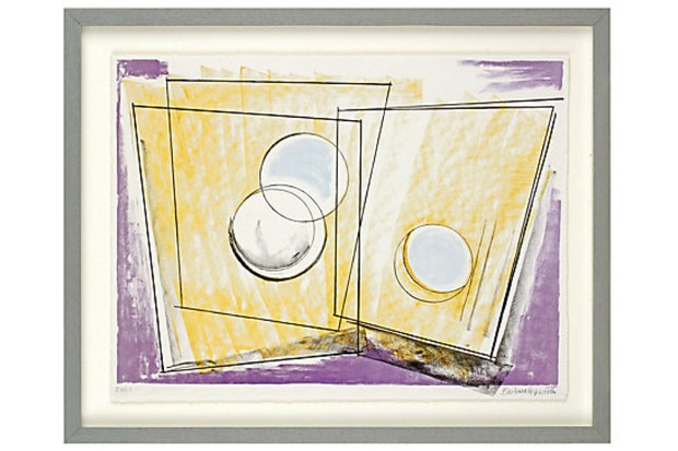 A framed print of Oblique Forms