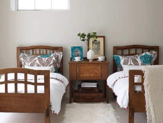 Arts and Crafts beds and bedside table