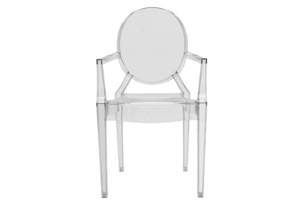 A transparent armchair