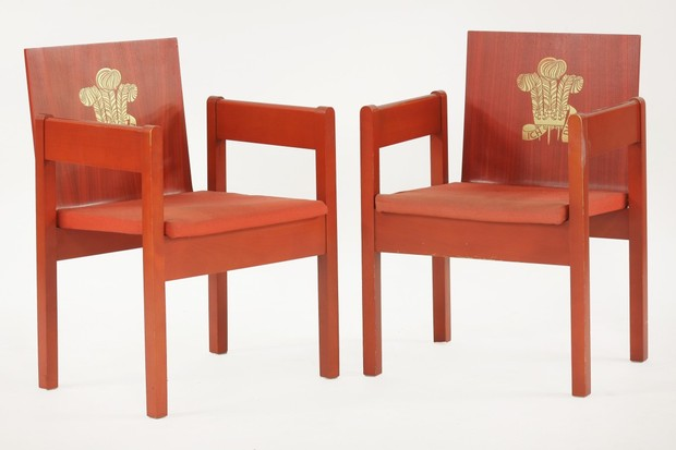 A pair of Prince Of Wales Investiture chairs