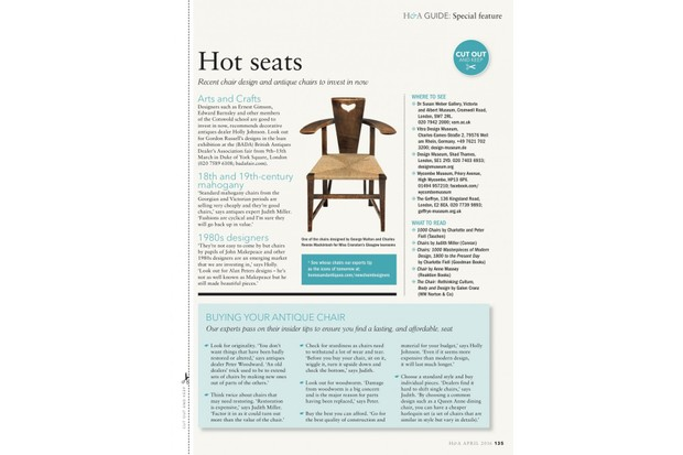 Free-to-download guide to collecting chairs