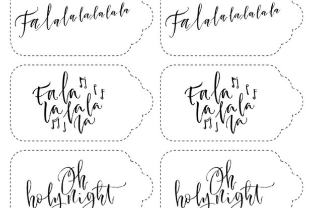 Calligraphy gift cards