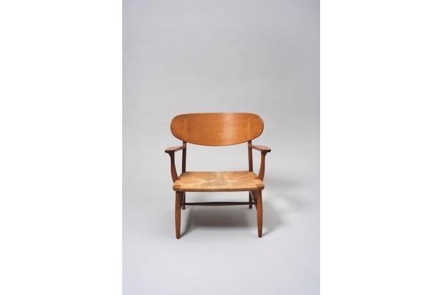 A lounge chair designed by Hans Jorgensen Wegner