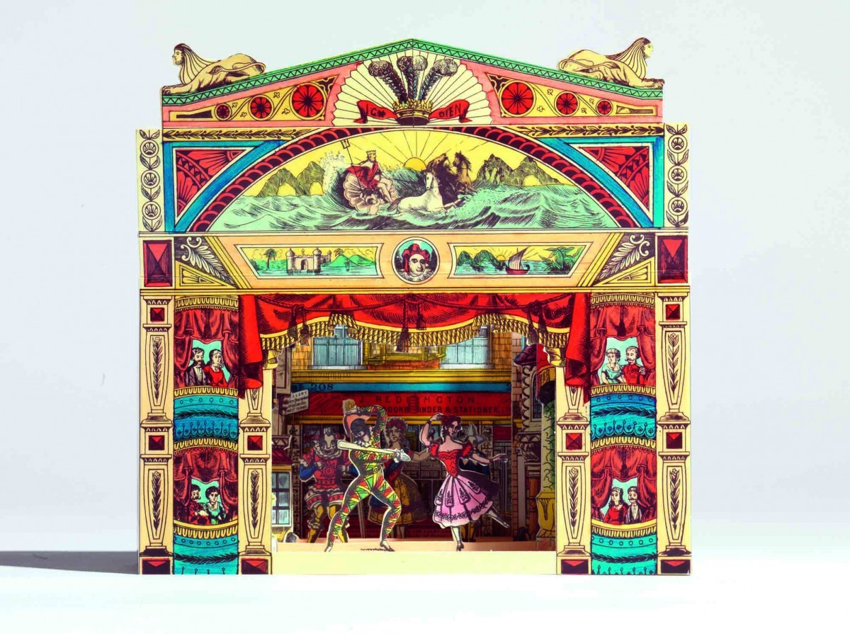 A brightly coloured Pollock's toy theatre