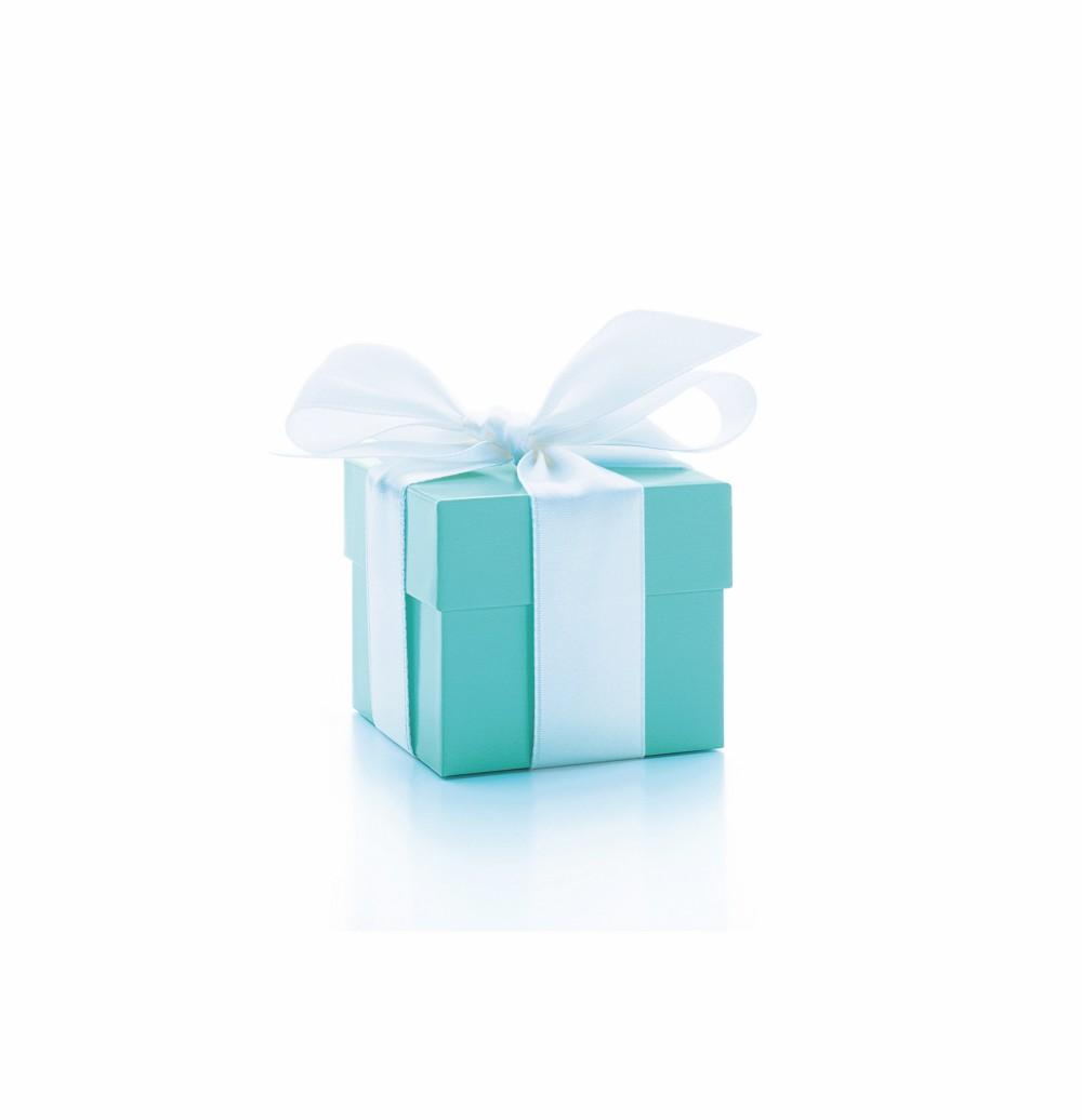 A blue Tiffany jewellery box