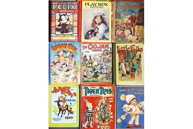 A collection of different annuals including a Radio Fun Annual