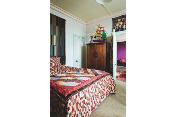 Kaffe Fassett's bedroom