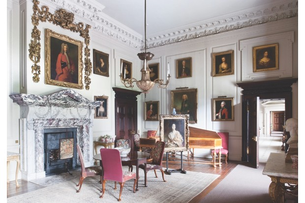 The common parlour of Houghton Hall. The portrait over the mantelpiece is of Galfridus Walpole