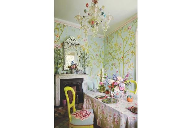 Kaffe Fassett's dining room