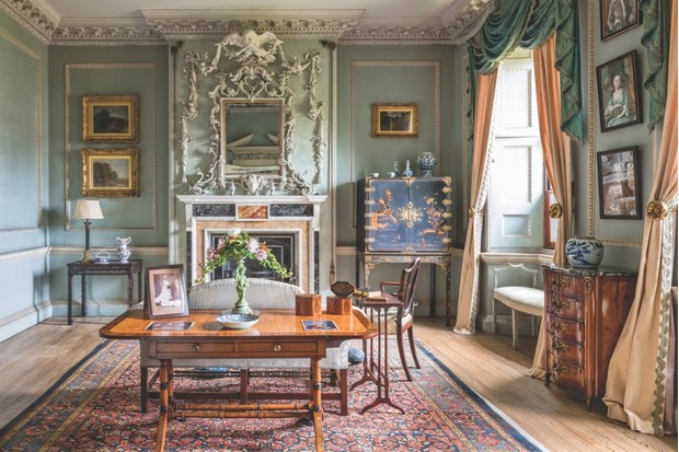 The extravagant drawing room of Peckover House