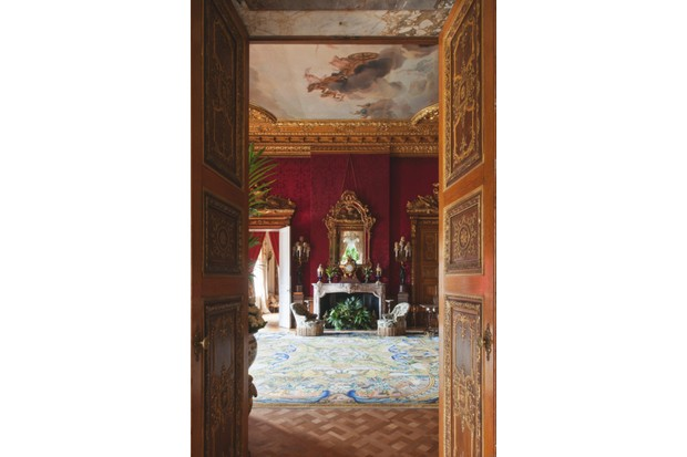 The Red Drawing Room of Waddesdon Manor