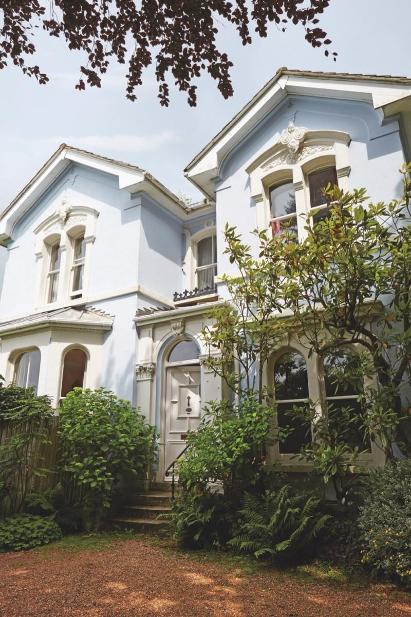 The exterior of Kaffe Fassett's Hastings home