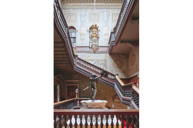 The great staircase of Houghton Hall, which was inspired by a Roman cortile
