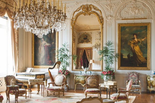 The Grey Drawing Room of Waddesdon Manor