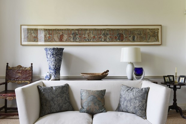 The living room sofa of an 18th-century townhouse