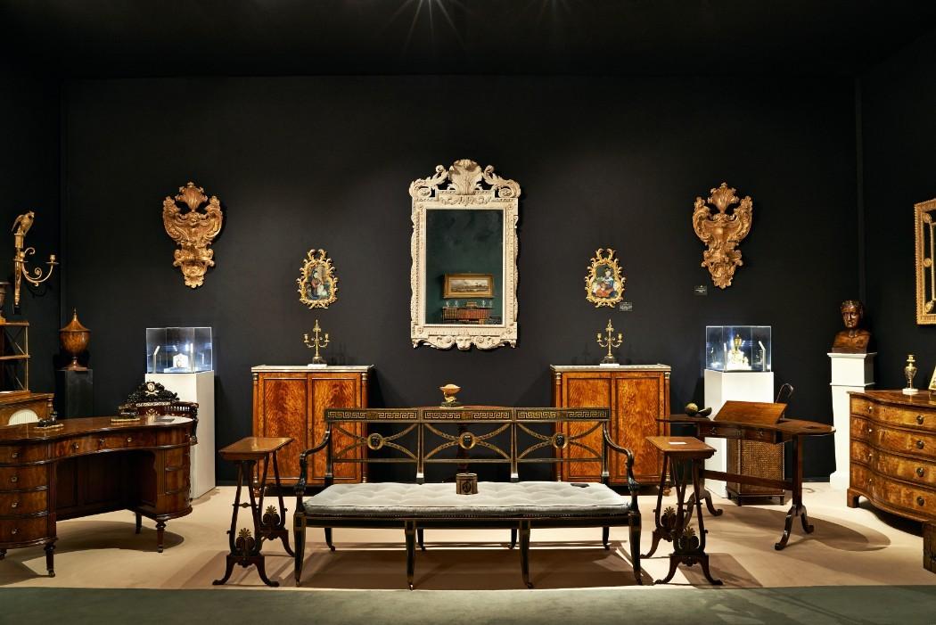 Antiques on display at LAPADA