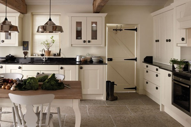 A country-style bespoke kitchen