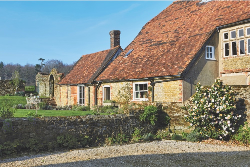 The exterior of Nikki Tibbles' Sussex home