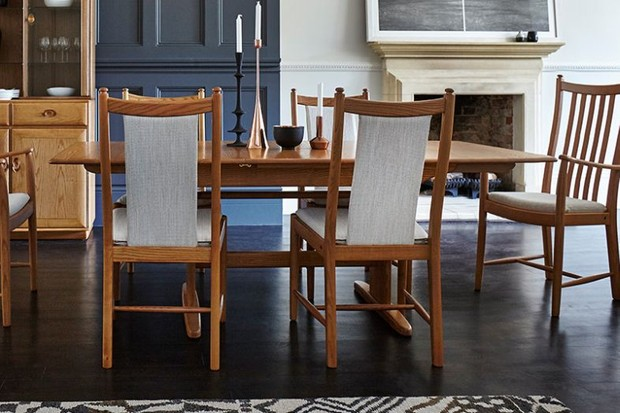 Image of mid-century dining table and chairs