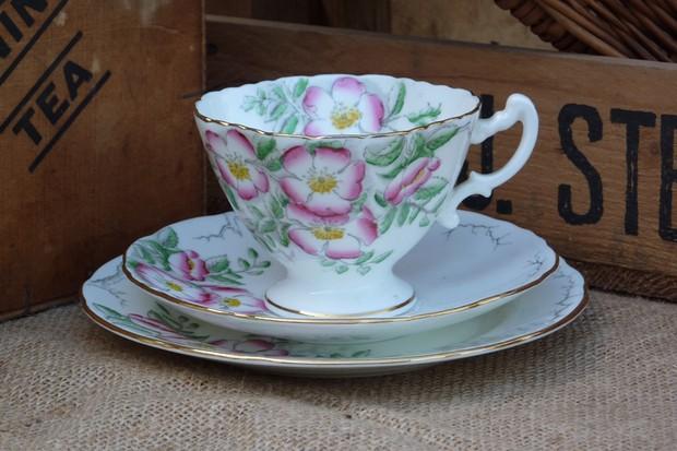 A 'Hammersley' rose tea cup