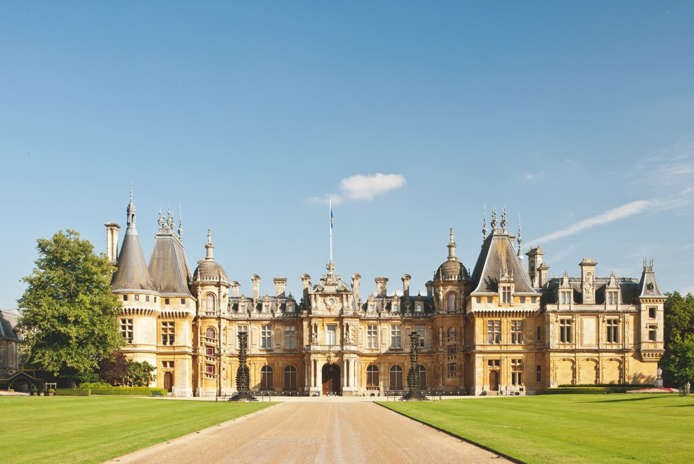 The exterior of Waddesdon Manor