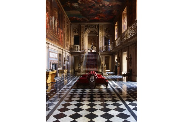 The Painted Hall designed by the 1st Duke of Devonshire was originally planned to work as a reception room