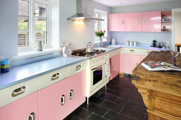 Pink English Rose Kitchen