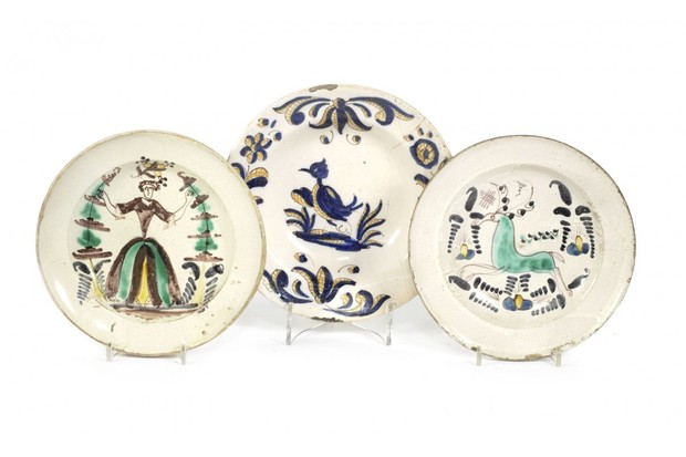 17th-century earthenware plates